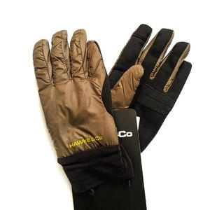 HAWKE & CO Light-Weight Nylon Gloves Olive Green